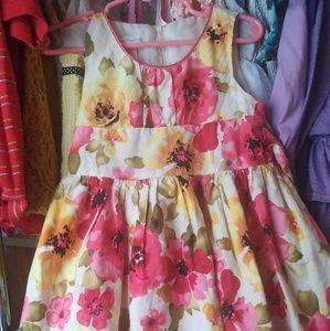 🌺Bonnie Jean floral dress sz 4t
